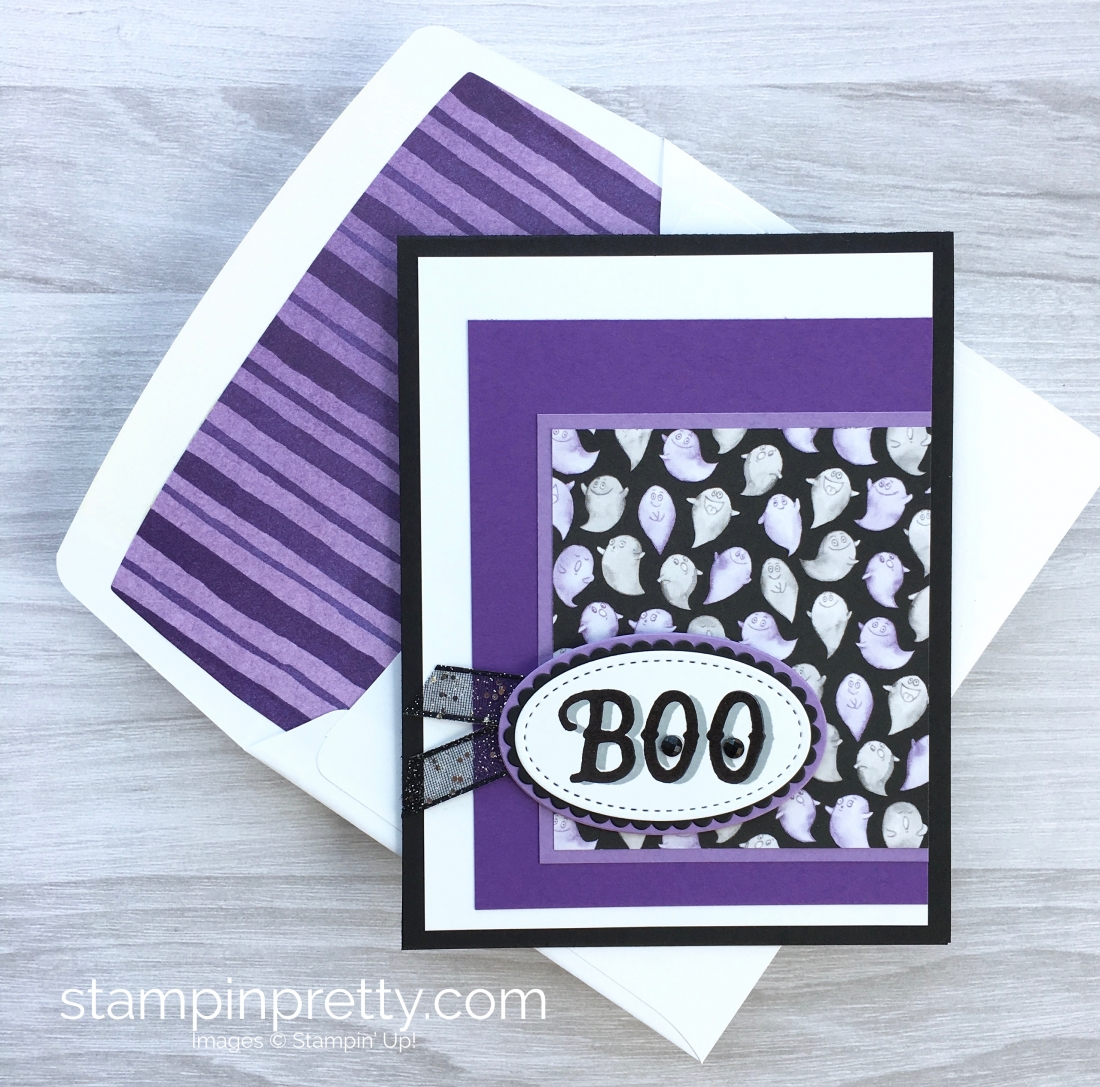 For Today's Halloween Card Idea. Key To The Design Was This Delightful  Ghost Pattern From Stampin' Up! Toil & Trouble Designer Series Paper.