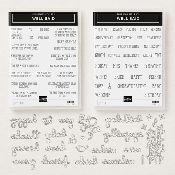 150609 Well Said Cling Bundle by Stampin' Up!