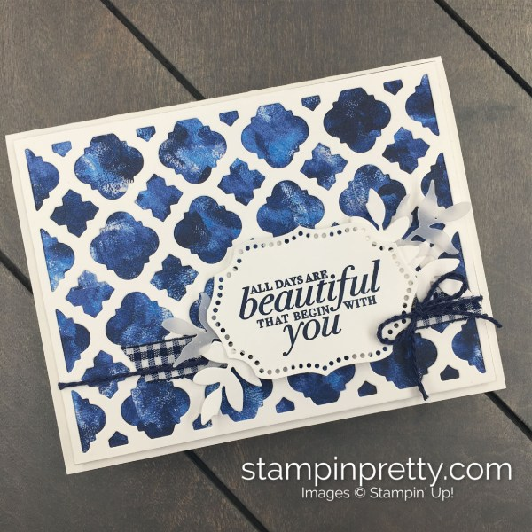 Create this friend card using the Florentine Filigree Bundle by Stampin' Up! Mary Fish, Stampin' Pretty