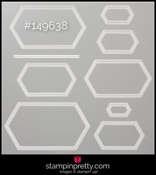 Stampin' Up! 149638 Stitched Nested Labels