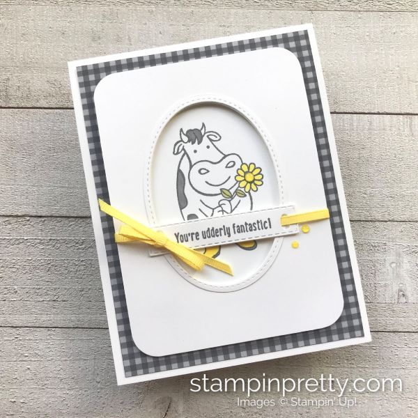 Create this friend card using Over the Moon Stamp Set by Stampin' Up! Mary Fish, Stampin' Pretty _product photo