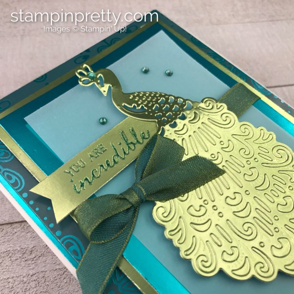 Noble Peacock Suite by Stampin' Up! Incredible Card by Mary Fish, Stampin' Pretty