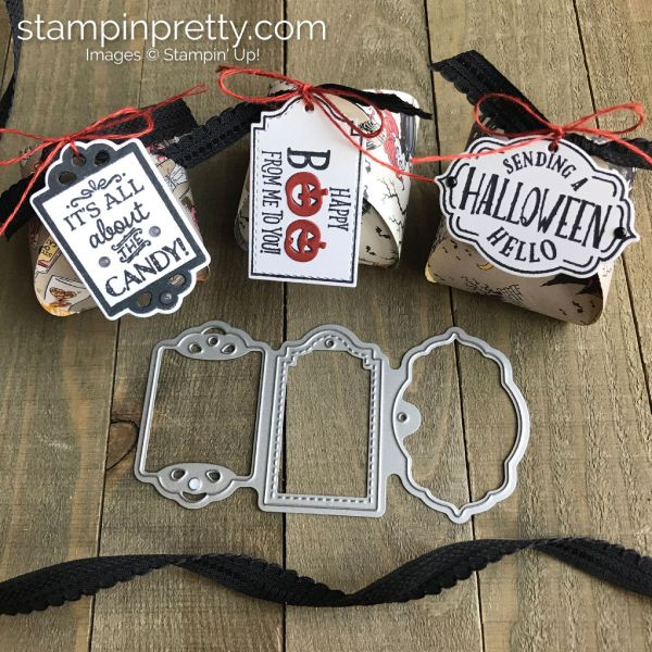 Mini Curvy Keepsake Halloween Treat Boxes with Tags, Tags, Tags from Stampin' Up! Created by Mary Fish, Stampin' Pretty