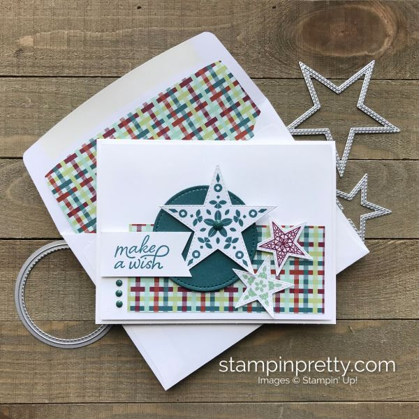 So Many Stars Bundle from Stampin' Up! Make a Wish Card by Mary Fish Stampin' Pretty