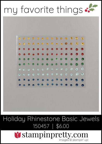 Mary Fish, Stampin' Pretty My Favorite Things 2019 Stampin' Up! Holiday Catalog - Holiday Rhinestone Basic Jewels