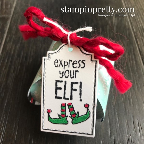 Tags Tags Tags & Mini Curvy Keepsake Box from Stampin' Up! Express Your Elf Keepsake Box by Mary Fish, Stampin' Pretty
