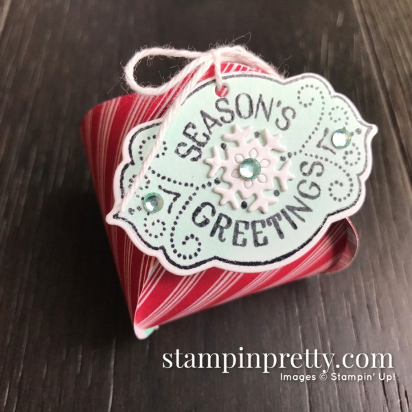 Tags Tags Tags & Mini Curvy Keepsake Box from Stampin' Up! Bring on the Merry Keepsake box by Mary Fish, Stampin' Pretty