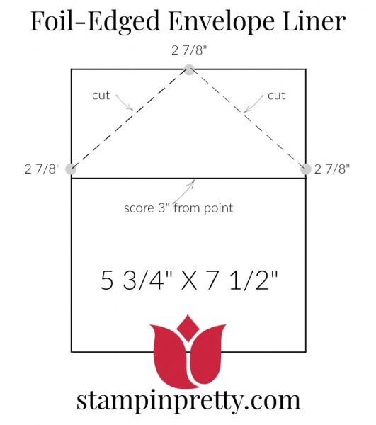 Create an envelope liner for foil-edged envelopes