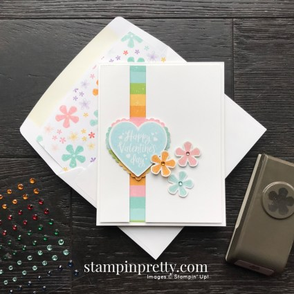 Pleased as Punch DSP & Small Bloom Punch Sale-A-Bration Promotion, Heartfelt Bundle - Card by Mary Fish, Stampin' Pretty