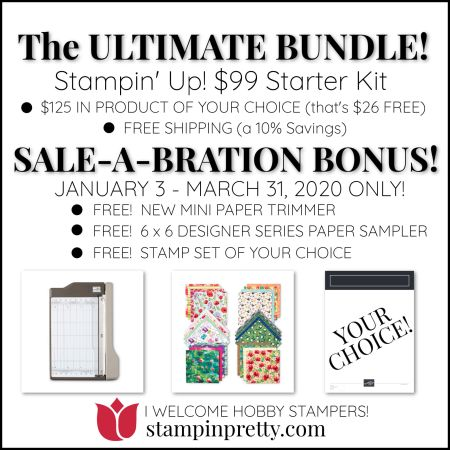 SAB Starter Kit Promotion 2020 Mary Fish, Stampin' Pretty