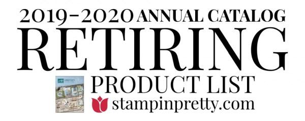 Stampin' Up! 2019-2020 Annual Catalog Retiring List