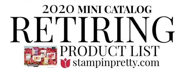Stampin' Up! 2020 MINI Catalog Retiring List
