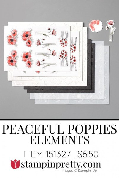 Peaceful Poppies Elements by Stampin' Up! 151327