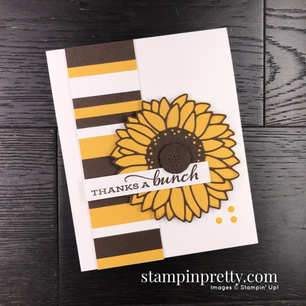 SNEAK PEEK! Celebrate Sunflowers Bundle from Stampin' Up! Card by Mary Fish, Stampin' Pretty Card Only
