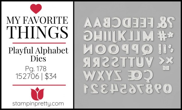 My Favorite Things - Playful Alphabet Dies