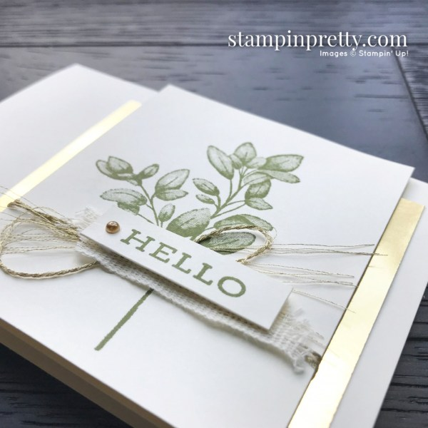 Create this simple notecard using the Forever Fern Stamp Set by Stampin' Up! Card created by Mary Fish, Stampin' Pretty (1)