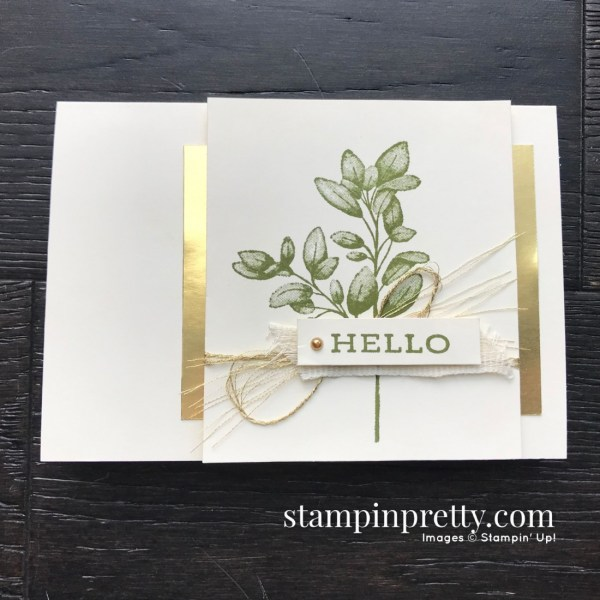 Create this simple notecard using the Forever Fern Stamp Set by Stampin' Up! Card created by Mary Fish, Stampin' Pretty
