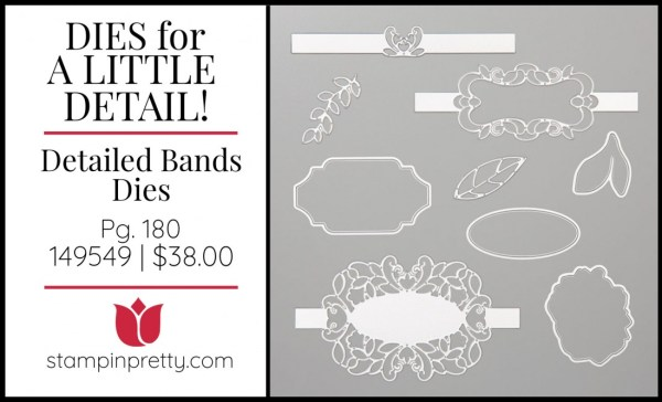 Detailed Bands Dies 149549 by Stampin' Up! Shop Online 24_7 with Mary Fish, Stampin' Pretty