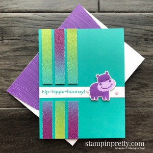 Hippo & Friends Bundle from Stampin' Up! Card created by Mary Fish, Stampin' Pretty