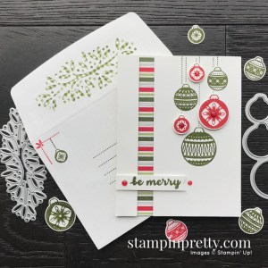 Ornamental Envelopes Bundle from Stampin' Up! Be Merry Christmas Card by Mary Fish, Stampin' Pretty