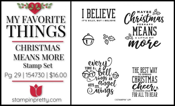 My Favorite Things -Christmas Means More Stamp Set from Stampin' Up!