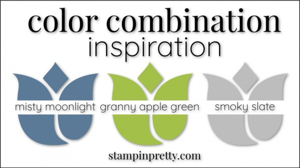 Color Combinations Misty Moonlight, Granny Apple Green, Smoky Slate