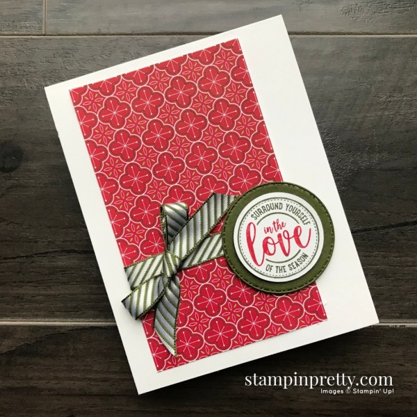 Create this Holiday Card using the Wrapped in Christmas Stamp Set from Stampin' Up! Card by Mary Fish, Stampin' Pretty