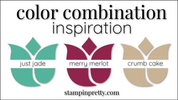 Color Combinations Just Jade, Merry Merlot, Crumb Cake