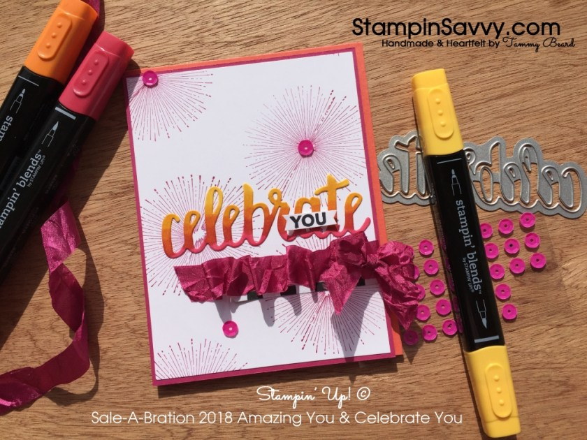 Sale-A-Bration favorites Amazing You stamps & Celebrate You thinlits dies