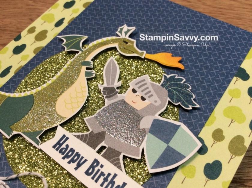 dragon birthday card closeup