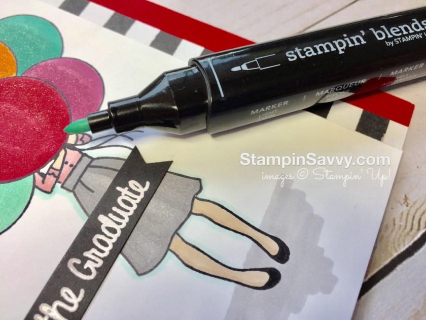 graduation card closeup coloring stampin up stampin savvy