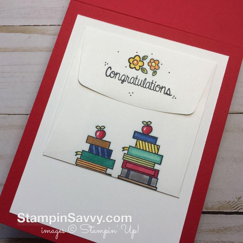 graduation card stampin up inside