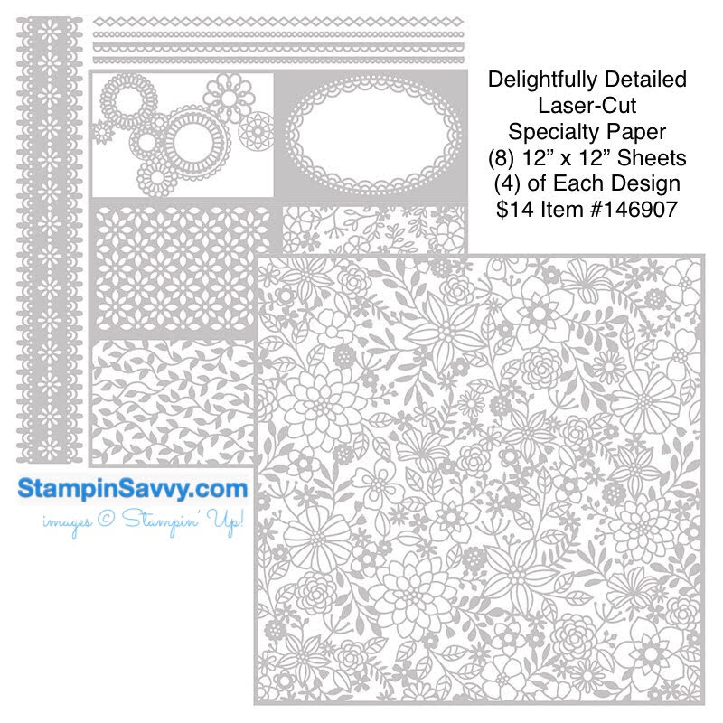delightfully detailed laser cut specialty paper