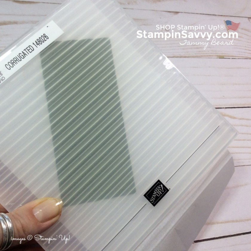 corrugated tief, embossing folders, how to prevent cracked cardstock, stampin up, stampinup, stampin savvy, tammy beard