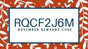11-2018 Rewards Code