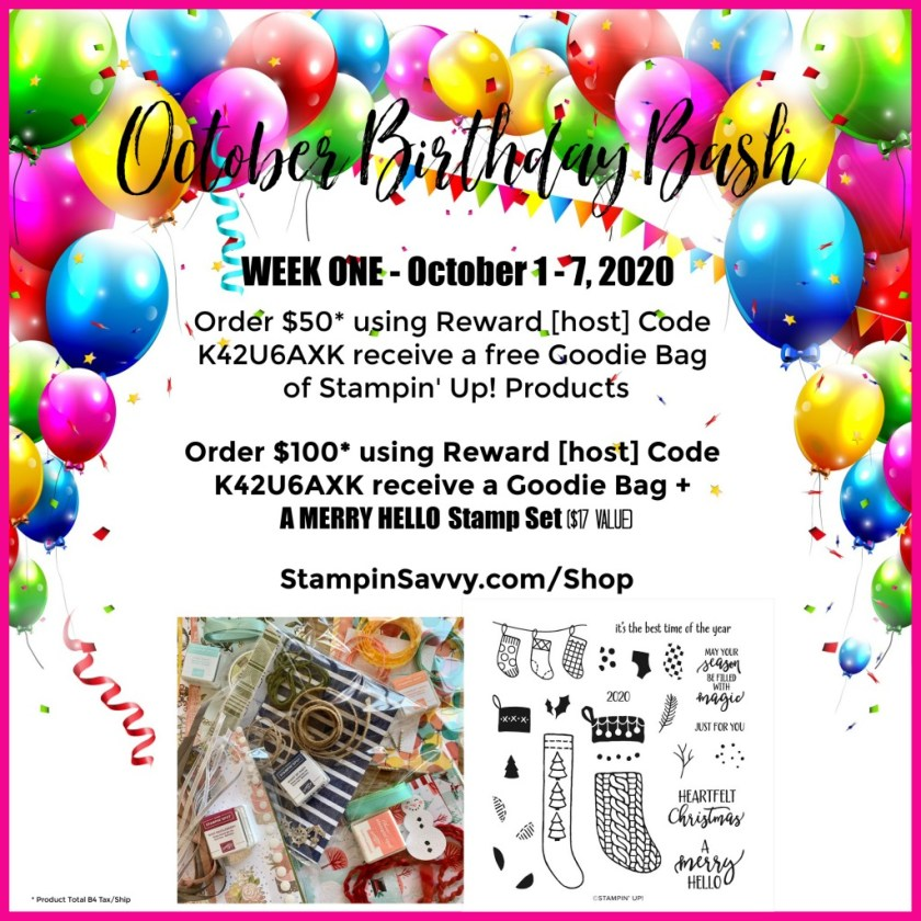 October Birthday Bash 2020 Week 1-3