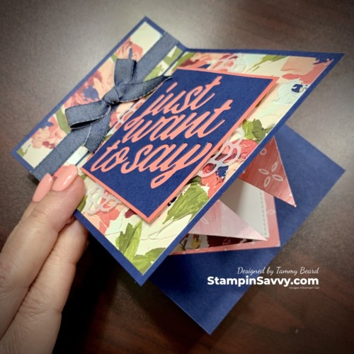 HOW-TO-MAKE-A-FUN-FOLD-POP-UP-GREETING CARD-TAMMY-BEARD-STAMPIN-SAVVY-UP