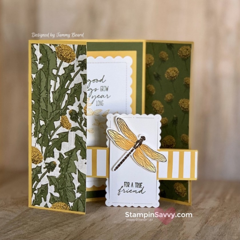 DRAGONFLY-GARDEN-EASY-GATE-FOLD-CARD-TAMMY-BEARD-STAMPIN-SAVVY-UP