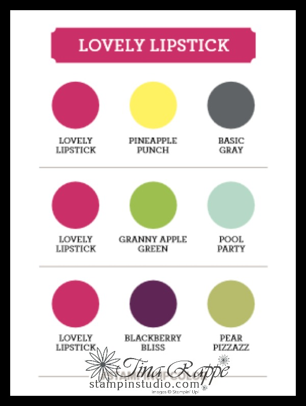 Stampin' Up! Lovely Lipstick Color Combinations, Stampin' Studio