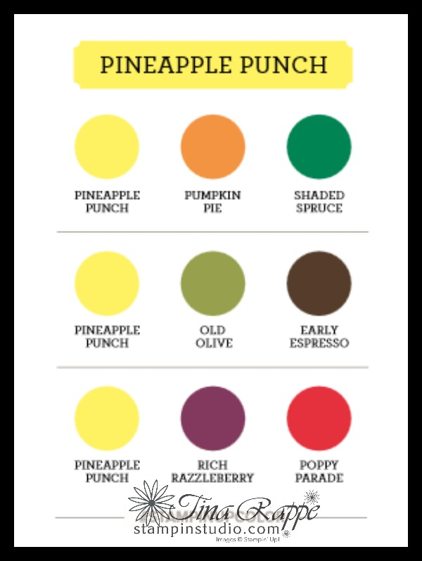 Stampin' Up! Pineapple Punch Color Combinations, Stampin' Studio
