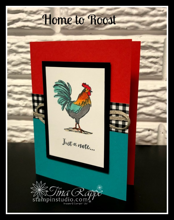 Stampin' Up! Home to Roost stamp set, sale-a-bration 2019, Stampin' Studio