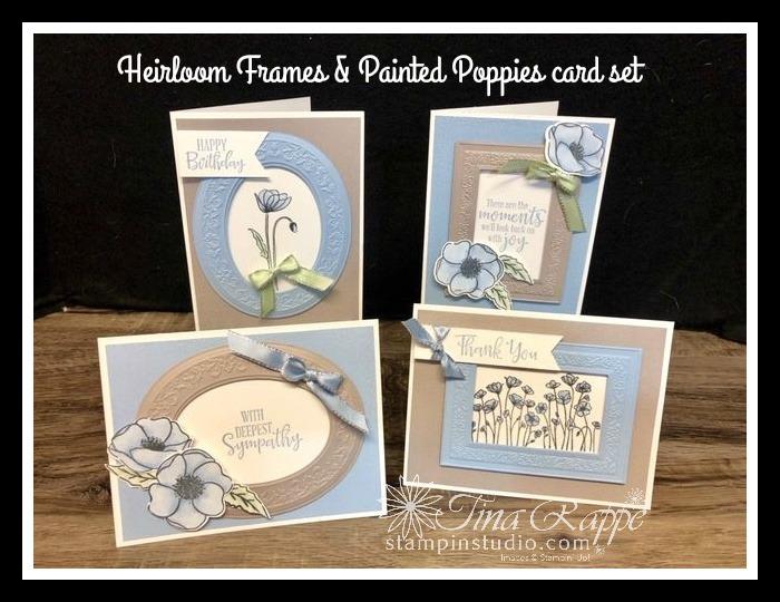 Stampin' Up! Painted Poppies stamp set, Heirloom Frames Dies & Embossing Folders, Stampin' Sisters Retreat, Stampin' Studio