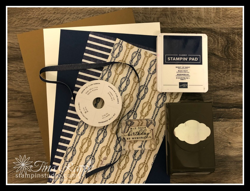 Stampin' Up! Come Sail Away DSP, Stampin' Studio