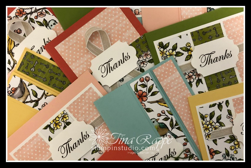 Stampin' Up! Bird Ballad DSP, Double Wonder Cards, Stampin' Studio