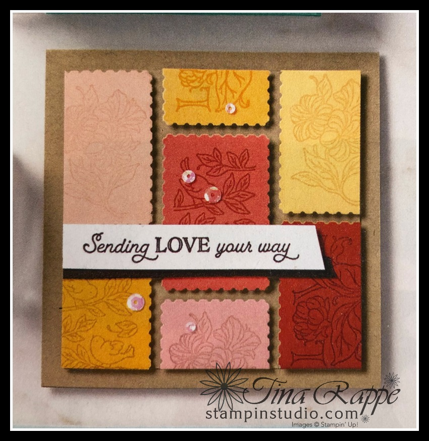 Stampin' Up! Posted For You Bundle, Posted For You stamp set, Rectangular Postage Stamp Punch, How to use the Rectangular Postage Stamp Punch to make an interesting background, Stampin' Studio