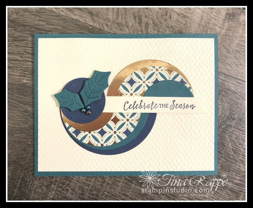 Stampin' Up! Itty Bitty Christmas stamp set, Layered Circle Technique, Stampin' Studio