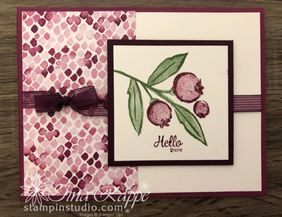 Stampin' Up! Berry Blessings stamp set, Berry Delightful DSP, Sale-a-bration, Stampin' Sisters Retreat, Stampin' Studio