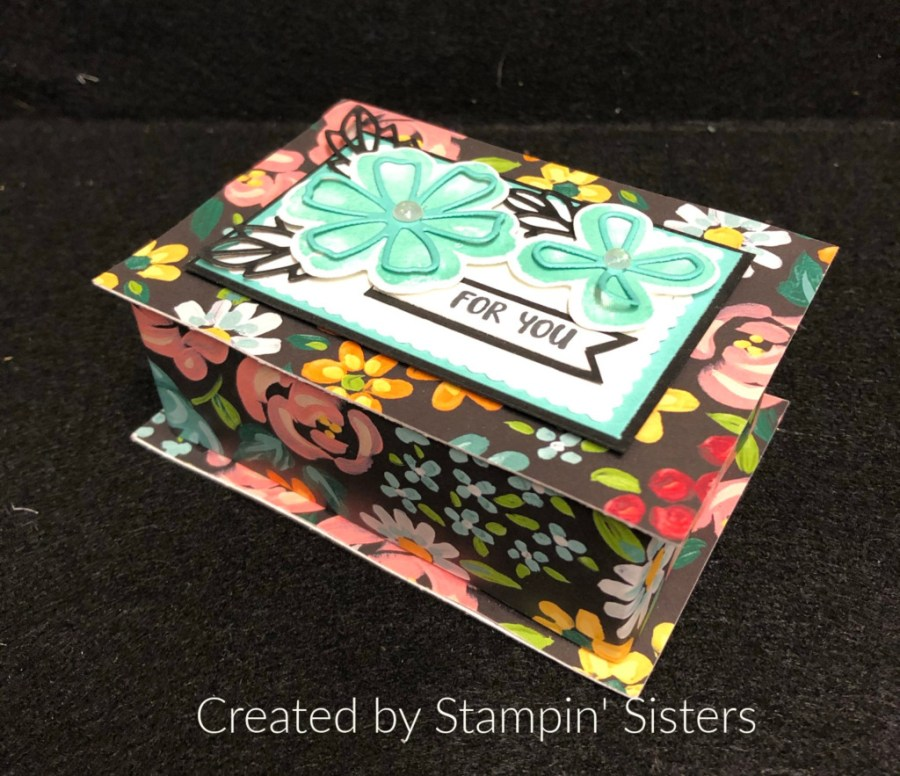 Stampin' Up! Pretty Perennials Bundle , 3-D jewlery Box Love You Always Treat Box, Stampin' Sisters Retreat, Stampin' Studio