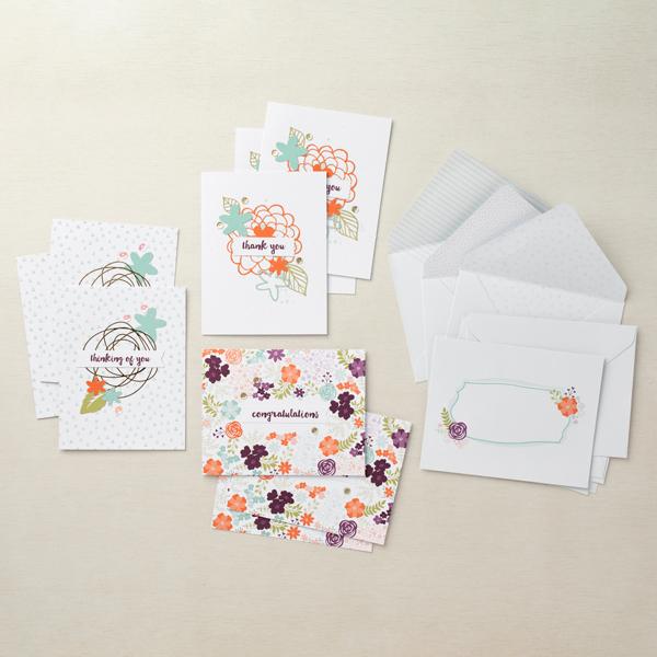 Stampin' Up! Kit Collection,  Petal Note Card Kit, Stampin' Studio