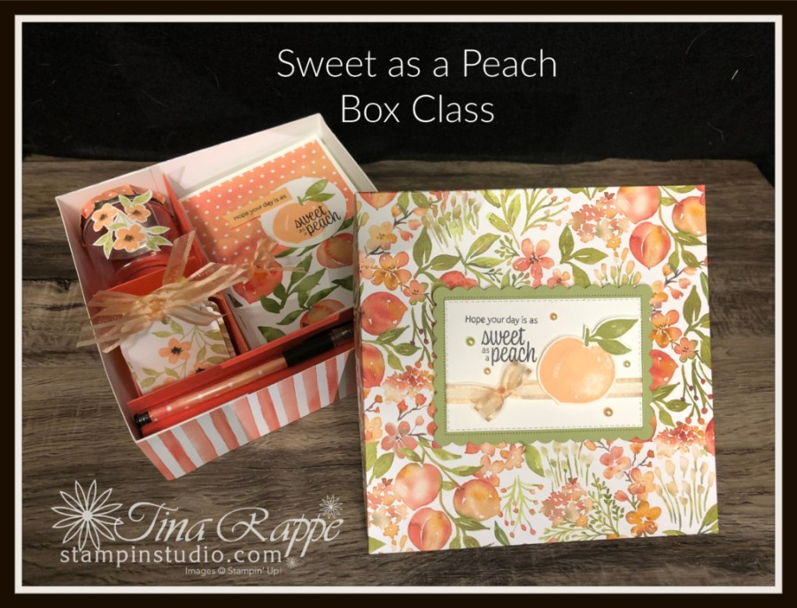 Stampin' Up! Sweet as a Peach stamp set, Gift Box set, Stampin' Studio